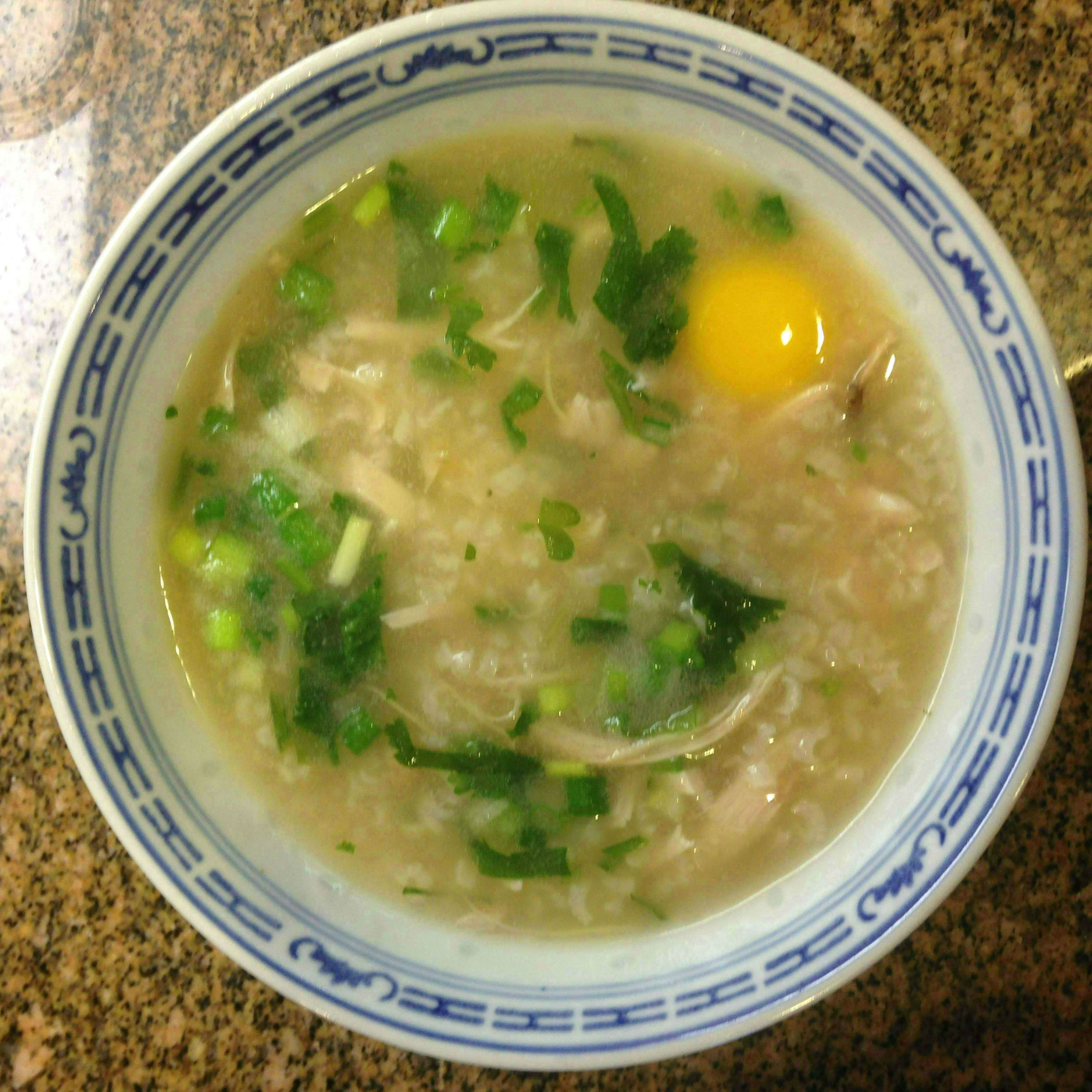 how to cook chicken congee